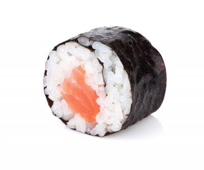 Naklejka Sushi maki z łososiem