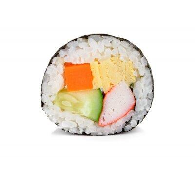 Naklejka sushi na białym.