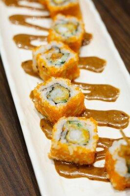 Naklejka Sushi rolkach