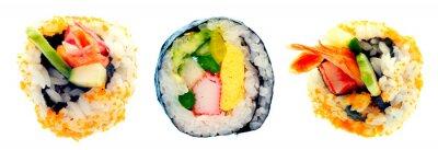 Naklejka Sushi z ryżem na białym tle