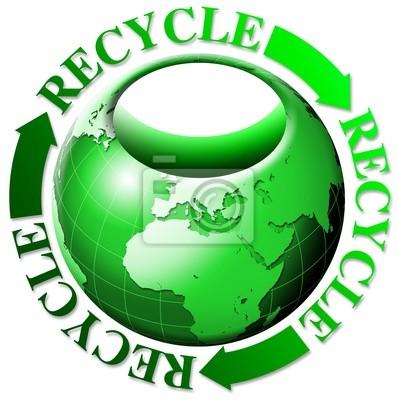 Świat recyklingu torby