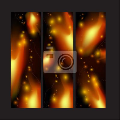 Światła Fire on black