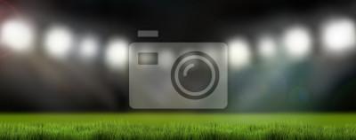 Naklejka światła stadion sportowy 3d render tło
