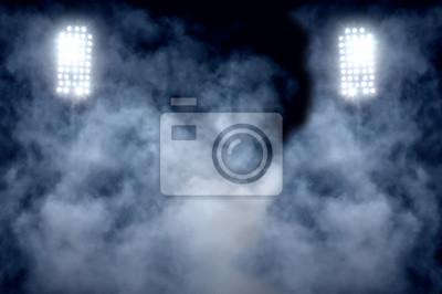 Naklejka Światła stadionów i dym