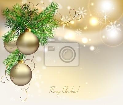 Światło Boże Narodzenie z srebrnymi kulkami wieczornych