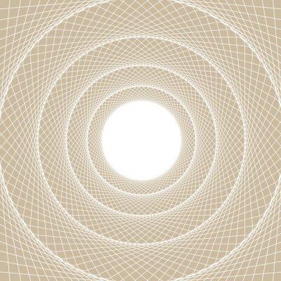 Naklejka Światło Rura internetowej, wyśrodkowany widok z wnętrza tunelu internetowej, z białym rdzeniem otwartym