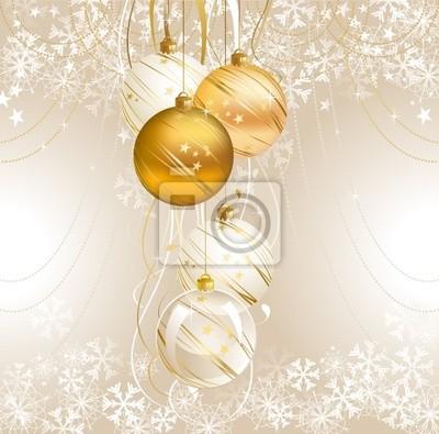 światło tło Boże Narodzenie z pięcioma kulkami