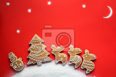 Święta Bożego Narodzenia ornament płaski świecki; Tło kartki świąteczne