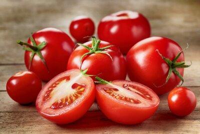 Naklejka Świeże czerwone pomidory