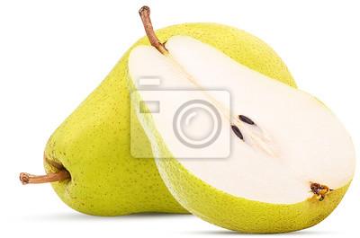 Naklejka Świeże gruszki, półtora żółte owoce