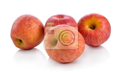 Naklejka Świeże jabłka gala samodzielnie na białym tle