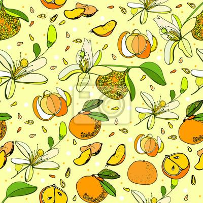 świeże mandarynki tle