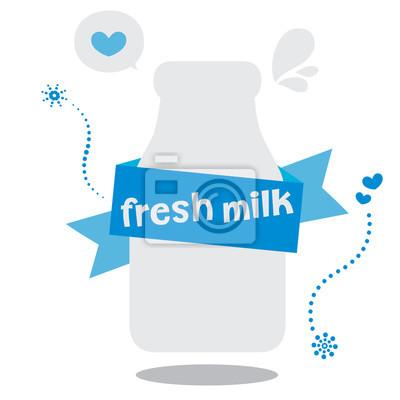 świeże mleko ilustracji wektorowych