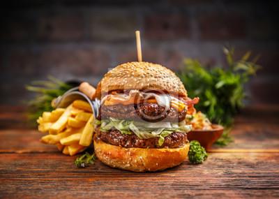 Naklejka Świeże smaczne burger