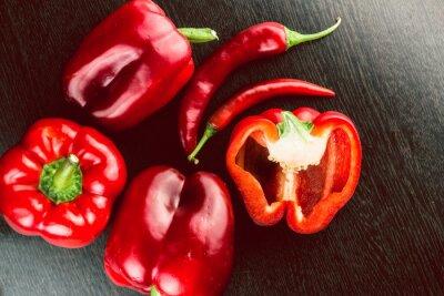 Naklejka Świeże warzywa kolorowe papryki