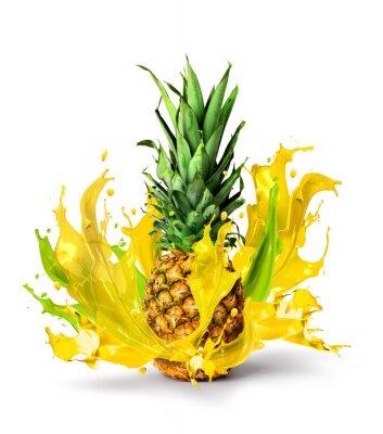 Naklejka Świeży ananas owoc soczysty smak powitalny