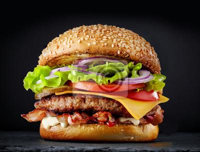 Naklejka świeży smaczny burger