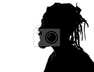 Naklejka Sylwetka African American Man