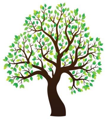 Naklejka Sylwetka drzewa liściaste temat 1