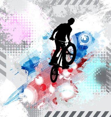 Naklejka Sylwetka rowerzysty.