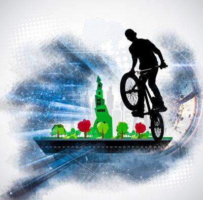 Naklejka Sylwetka rowerzysty