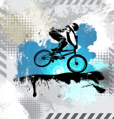 Naklejka Sylwetka rowerzysty, wektor