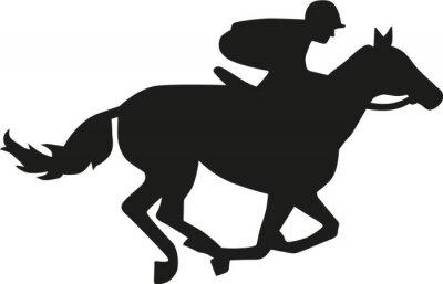 Naklejka Sylwetka wyścigów konnych