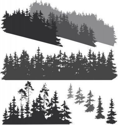 Naklejka sylwetki lesie