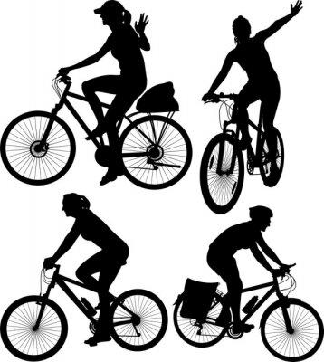 Naklejka sylwetki rowerowych