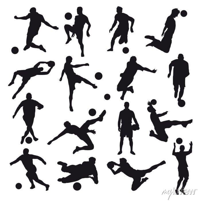Naklejka Sylwetki Soccer