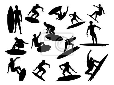 Sylwetki surfer szczegółowe