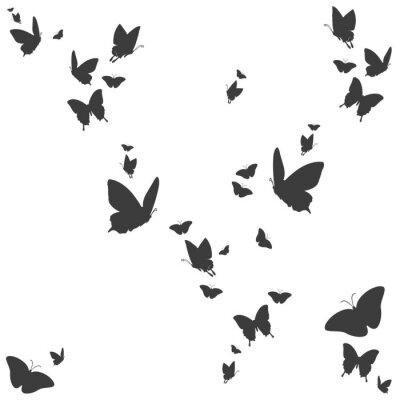 Naklejka Sylwetki von Schmetterlingen