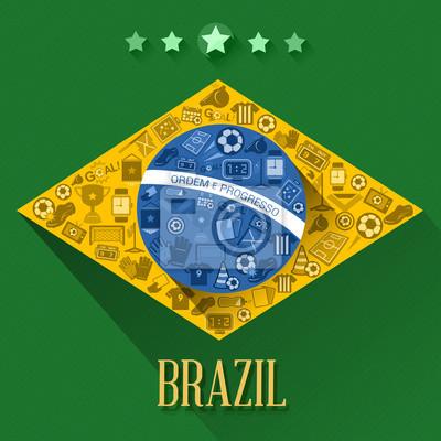 symbol flagi nożnej brazylia