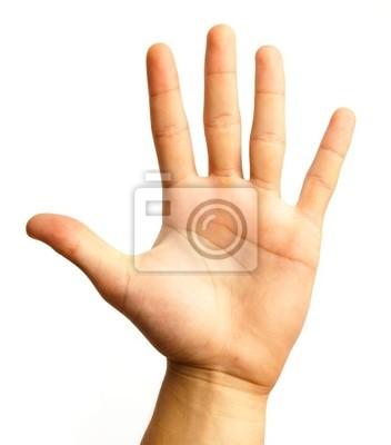 Naklejka symbol ręki