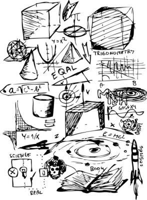 Naklejka symbole matematyczne