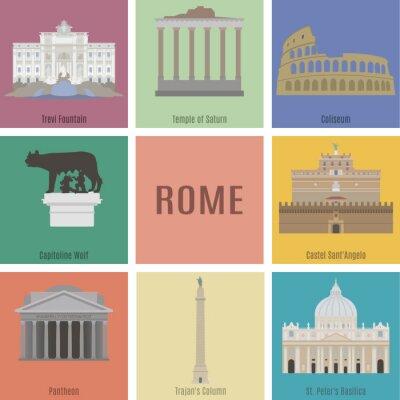 Naklejka Symbole Rzymie