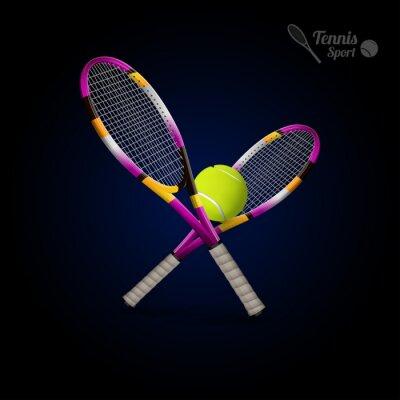 Naklejka Symbole Wektor tenisowe elementów, piłki tenisowe, tenis r