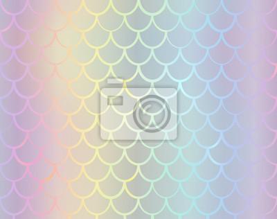 Syrenka ogonu tekstury skutka foliowy tło. Wektor opalizujący neon wzór. Holograficzna skala ryb lub hologramowy wąż szablon dla projektu zaproszenia strony.
