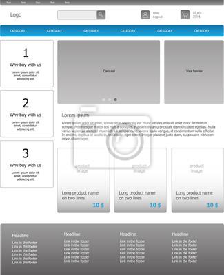 Szablon graficzny stronę biznesu internetowego. Jasne, webdesign