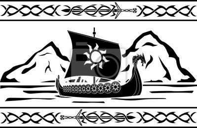 Naklejka szablon z Wikingów