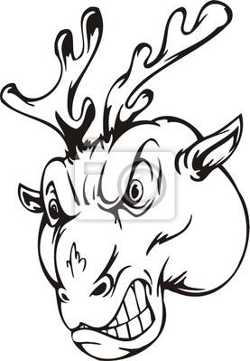 Szablony Deer.Mascot.