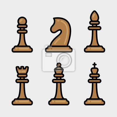 Szachy sztuk Minimalistyczna kolorystyka linii płaskiej konspektu Ikona skoku Ikona piktogramu Kolekcja symboli