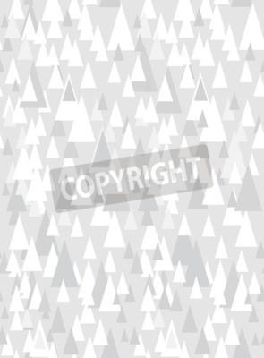 Naklejka Szary bezszwowych wzór z ozdobnymi trójkątami i przestrzeni kopii