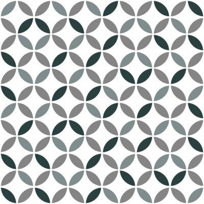 Naklejka Szary Geometria retro bezszwowe