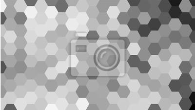 Szary geometryczny wzór sześciokąt bez konturu.