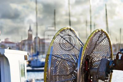 Szczegóły łodzi rybackich
