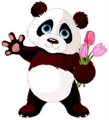 Naklejka Szczęśliwa Panda