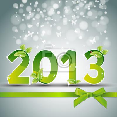 Naklejka Szczęśliwego nowego roku 2013