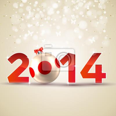 Naklejka Szczęśliwego Nowego Roku - Wesołych Świąt