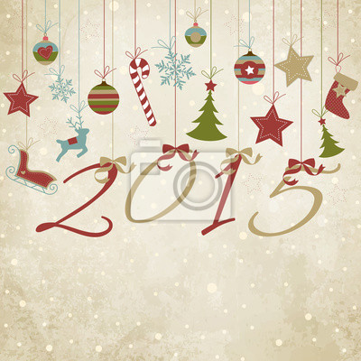Naklejka Szczęśliwego Nowego Słuchajcie - Wesołych Świąt